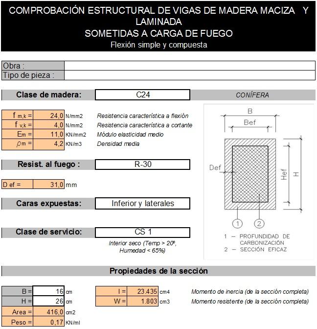 Cálculo de Estructuras: Vigas y Pilares de Madera Maciza y Laminada (5/6)