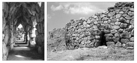 Casamatas y poternas en Tirinto